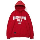 [그루브라임]Grooverhyme -2017 GROOVE RHYME USA (RED) [GH003F13RE] 후드티 후디