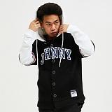[자니카슨]JOHNNYCARSON - 스타디움셔츠 후드 - BLACK