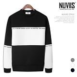 [뉴비스] NUVIIS - 네오프렌 뉴월드 라운드 맨투맨 티셔츠 (RW077MT)