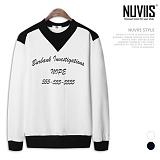 [뉴비스] NUVIIS - 노피5 라운드 맨투맨 티셔츠 (RW076MT)
