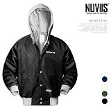 [뉴비스] NUVIIS - 드로잉 후드 야구 점퍼 (RW080JP)