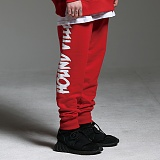 [하운드빌]HOUNDVILLE - WATERPROOF ZIP sweat pant red 트레이닝바지