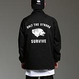 [하운드빌]HOUNDVILLE - SURVIVE coach jacket black 코치자켓