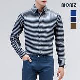 [모니즈] 톤다운 단가라 셔츠 SHT509