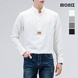[모니즈] 보카시 헨리넥 솔리드 셔츠 SHT502