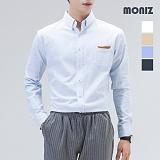 [모니즈] 스크래치 레더 포켓 솔리드 셔츠 SHT501