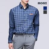 [모니즈] 스퀘어 체크 데님셔츠 SHT404