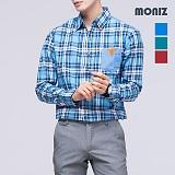[모니즈] 로젠 레더포켓 체크셔츠 SHT309