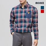 [모니즈] 달리 레더포켓 체크셔츠 SHT304