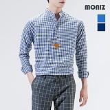 [모니즈] 로젠 깅엄 헨리넥 체크셔츠 SHT301