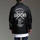 [하운드빌]HOUNDVILLE - SINK SWIM coach jacket black 코치자켓