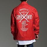 [하운드빌]HOUNDVILLE - SINK SWIM coach jacket red 코치자켓