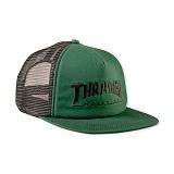[트래셔] THRASHER THRASHER LOGO EMB MESH CAP (GRN/BLK) 메쉬캡