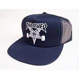 [트래셔] THRASHER THRASHER SKATE GOAT EMB MESH CAP (NVY/WHT) 메쉬캡