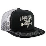 [트래셔] THRASHER THRASHER SKATE GOAT EMB MESH CAP (BLK/GRN) 메쉬캡