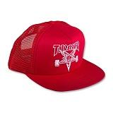 [트래셔] THRASHER THRASHER SKATE GOAT EMB MESH CAP (RED/WHT) 메쉬캡