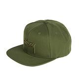 [스투시]STUSSY - STOCK HO16 CAP 131650 (GREEN) 로고 스냅백