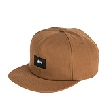 [스투시]STUSSY - STOCK WOVEN LABEL STRAPBACK 131662 (BROWN) 로고 스냅백
