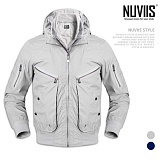 [뉴비스] NUVIIS - 아일렛 장식 하이넥 점퍼 (WS042JP)