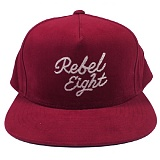 [레벨에잇]REBEL8 ROSE AND DAGGERS SNAPBACK (BURGUNDY) 스냅백
