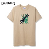 [엠블러]AMBLER 신상 자수 반팔 티셔츠 AS408-베이지
