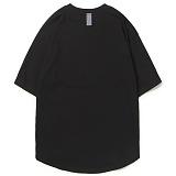 [앱놀머씽] Rounding Blank T-Shirt (Black) 오버핏 티셔츠