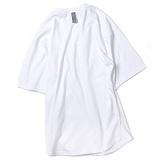 [앱놀머씽] Rounding Blank T-Shirt (White) 오버핏 티셔츠