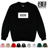 [DISCENE] 디씬 LINE D 오버핏 기모 맨투맨 10COLOR
