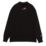 [블랙후디]BLACKHOODY SINGLE ROSE MIDNECK SWEATSHIRT BLACK 크루넥 스��셔츠 맨투맨