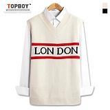 [탑보이] TOPBOY - 런던 라인 브이넥 니트조끼 (PN014)