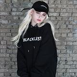 [아이넨]EINEN-Blacklist Hoodie Sweatshirts Black 후드티 후디