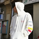 [디플로우]DEFLOW - COLORATION WAPPEN HOODIE(WHITE) 후드티