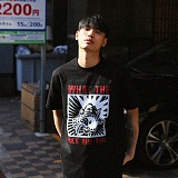 [디플로우]DEFLOW - EXCLAIMER T-SHIRT (BLACK) 반팔티