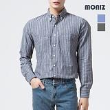 [모니즈] 스트라이프 투포켓 셔츠 SHT535