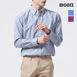 [모니즈] 배색 스트라이프 롤업 셔츠 SHT525