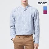 [모니즈] 배색 스트라이프 롤업 헨리넥 셔츠 SHT522