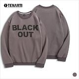 [테너티] 남녀공용 블랙아웃 맨투맨 (T015)