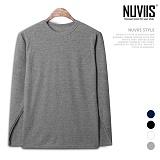 [뉴비스] NUVIIS - 베이직 모닝 심플 라운드 긴팔 티셔츠 (SM024TS)