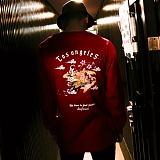 [드리프트아웃]DRIFTOUT - DNAR-002 -RED CROWNED-긴팔 티셔츠