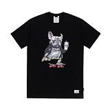 STIGMA - BULL DOG T-SHIRTS BLACK 반팔티셔츠 라운드넥