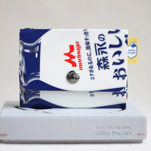 [밀키프로젝트]MILKY PROJECT - 밀키파우치(Milky Pouch) Card & Coin Case JP0317 (WHITE) 카드지갑 동전지갑