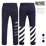 [뉴비스] NUVIIS - 화이트 일자핏 트레이닝팬츠 (MZ057LPT)