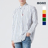 [모니즈] 큰 줄지 스트라이프 셔츠 SHT552