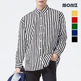 [모니즈] 포켓 오버 스트라이프 셔츠 SHT551