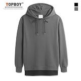 [탑보이] TOPBOY - 오버핏 레이어드 라인지퍼 후드티셔츠 (KBN234)