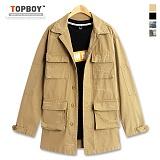 [탑보이] TOPBOY - 빈티지 더블 야상 자켓 (SH077)