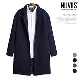 [뉴비스] NUVIIS - 오버핏 무지 싱글 코트 (SP055CT)
