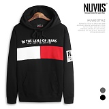 [뉴비스] NUVIIS - NYC 배색 후드 티셔츠 (RO038HD)