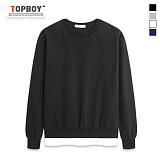[탑보이] TOPBOY - 무지 레이어드 맨투맨 (TR742)