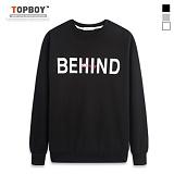 [탑보이] TOPBOY - 비하인드 라운드 맨투맨 (TR741)